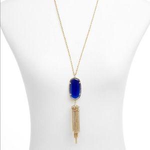 NWT Kendra Scott Rayne Necklace Cobalt Blue